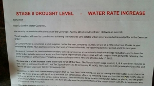 An example of water price increases in Santa Barbara County. Photo by Nate Emery.
