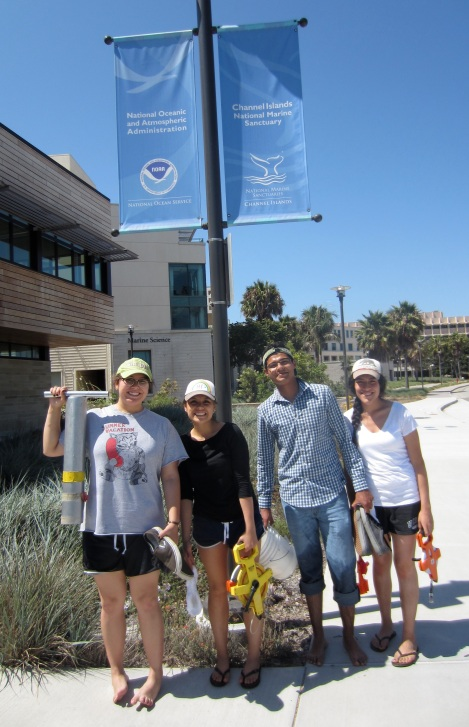 Jack Kent Cooke Bridges student interns outside the Channel Islands National Marine Sanctuary office on UC Santa Barbara's west campus. (June 14, 2105)